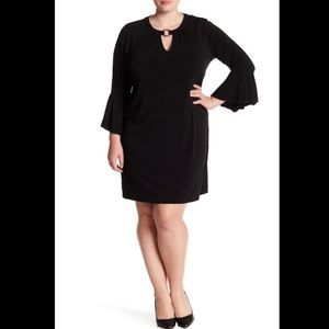 🆕 MICHAEL KORS black bell sleeve dress- size 1X